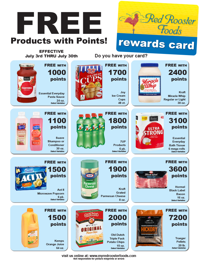 Red Rooster Points Specials