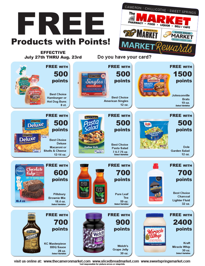 Image of Market Rewards monthly flyer